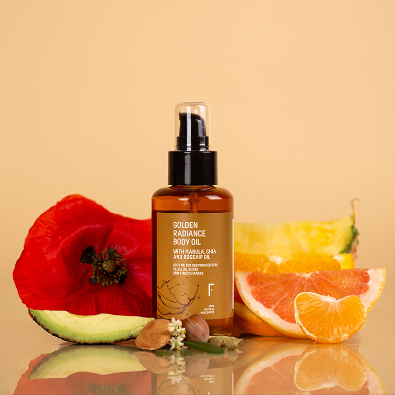 freshly cosmetics golden radiance aceite corporal